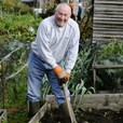 Man at allotment